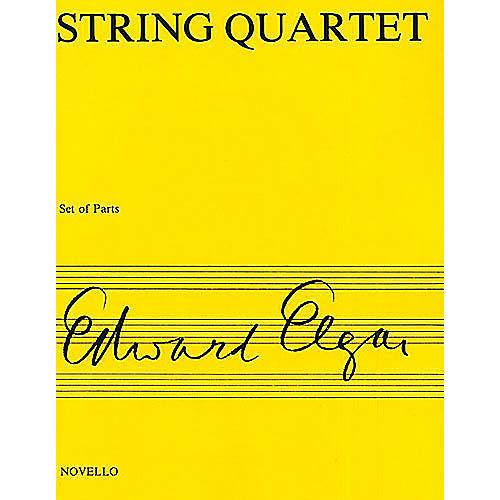 Novello String Quartet Op. 83 Music Sales America Series Composed by Edward Elgar thumbnail
