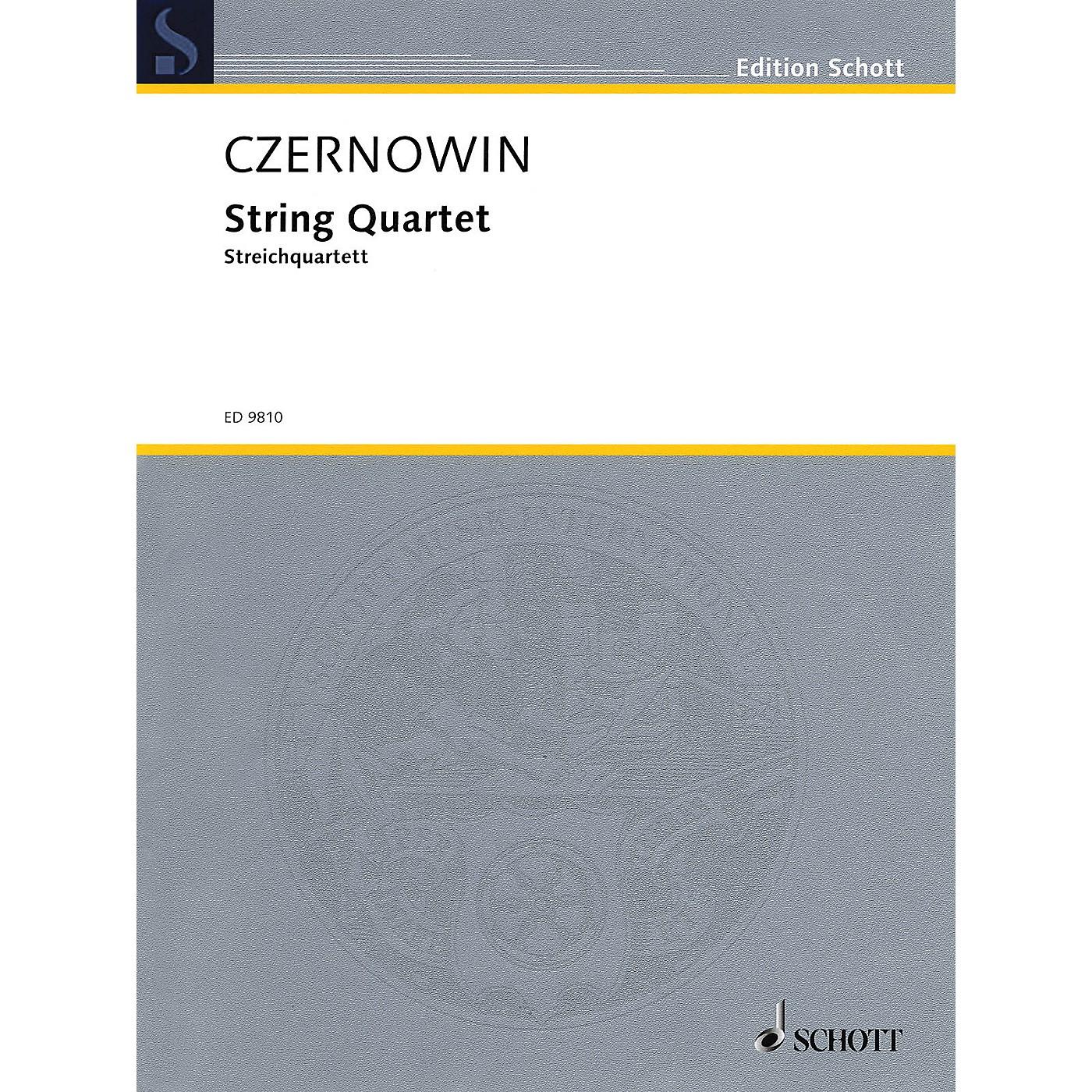Schott String Quartet (Score and Parts) Schott Series Composed by Chaya Czernowin thumbnail