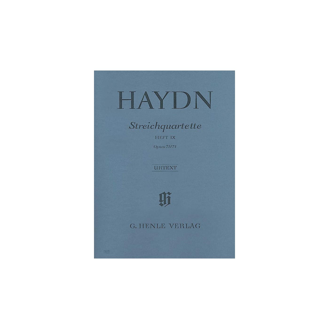 G. Henle Verlag String Quartets - Volume IX Op. 71 and 74 (Appony-Quartets) Henle Music by Franz Josef Haydn thumbnail