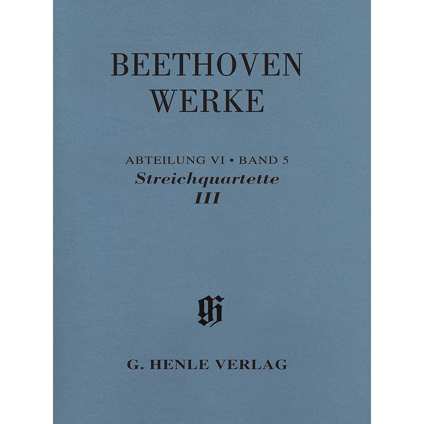 G. Henle Verlag String Quartets III Henle Complete Edition Series Softcover Composed by Ludwig van Beethoven thumbnail