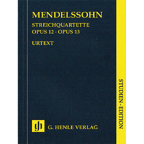 G. Henle Verlag String Quartets Op. 12 and 13 (Study Score) Henle Study Scores Series Softcover by Felix Mendelssohn thumbnail