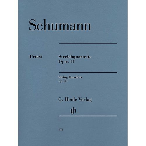 G. Henle Verlag String Quartets Op. 41 Henle Music Folios Series Composed by Robert Schumann thumbnail