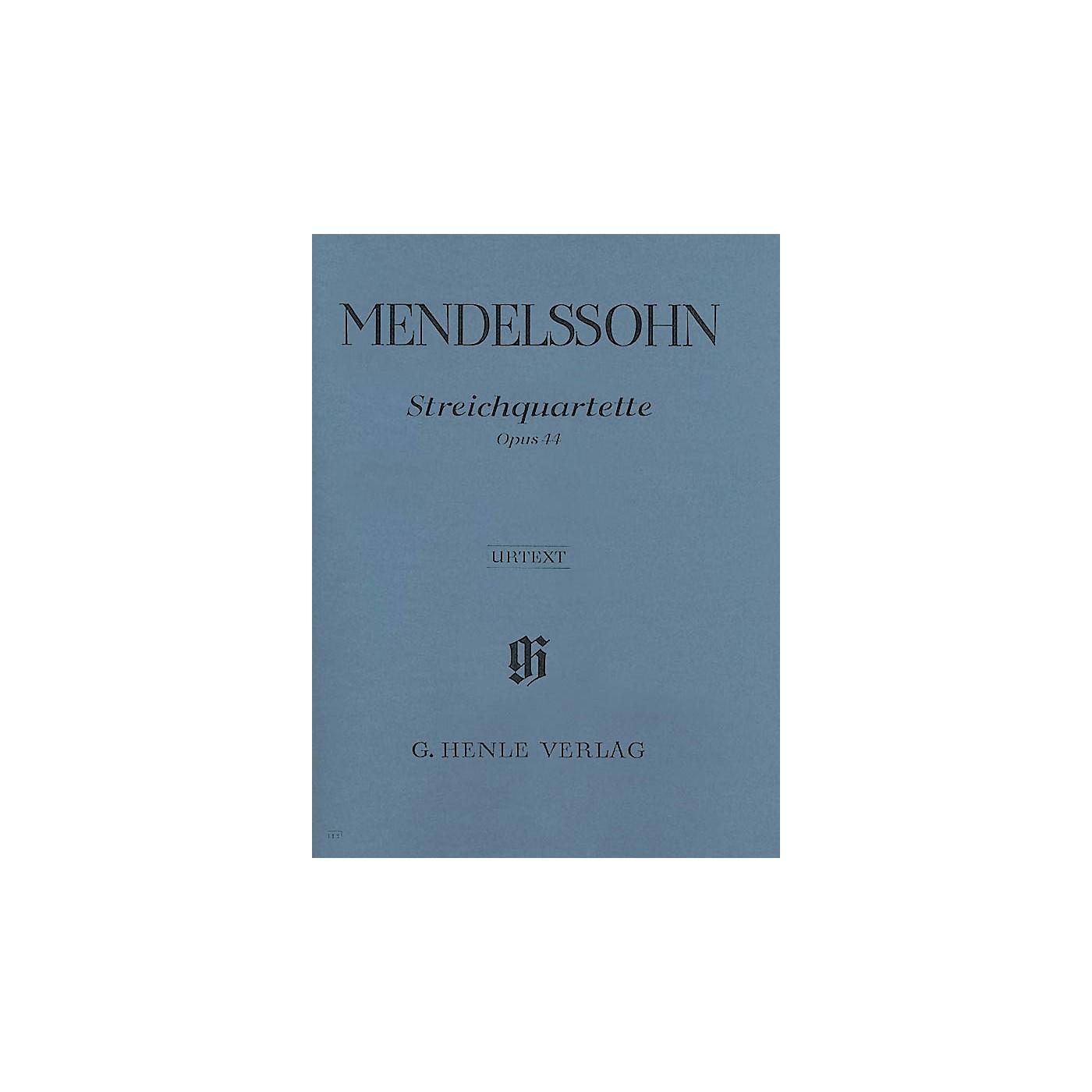 G. Henle Verlag String Quartets Op. 44, No. 1-3 Henle Music Folios Series Softcover Composed by Felix Mendelssohn thumbnail