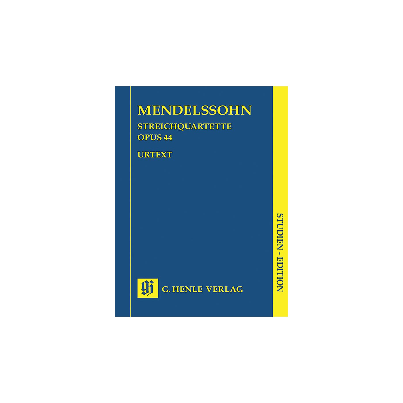 G. Henle Verlag String Quartets Op. 44, No. 1-3 (Study Score) Henle Study Scores Series Softcover by Felix Mendelssohn thumbnail