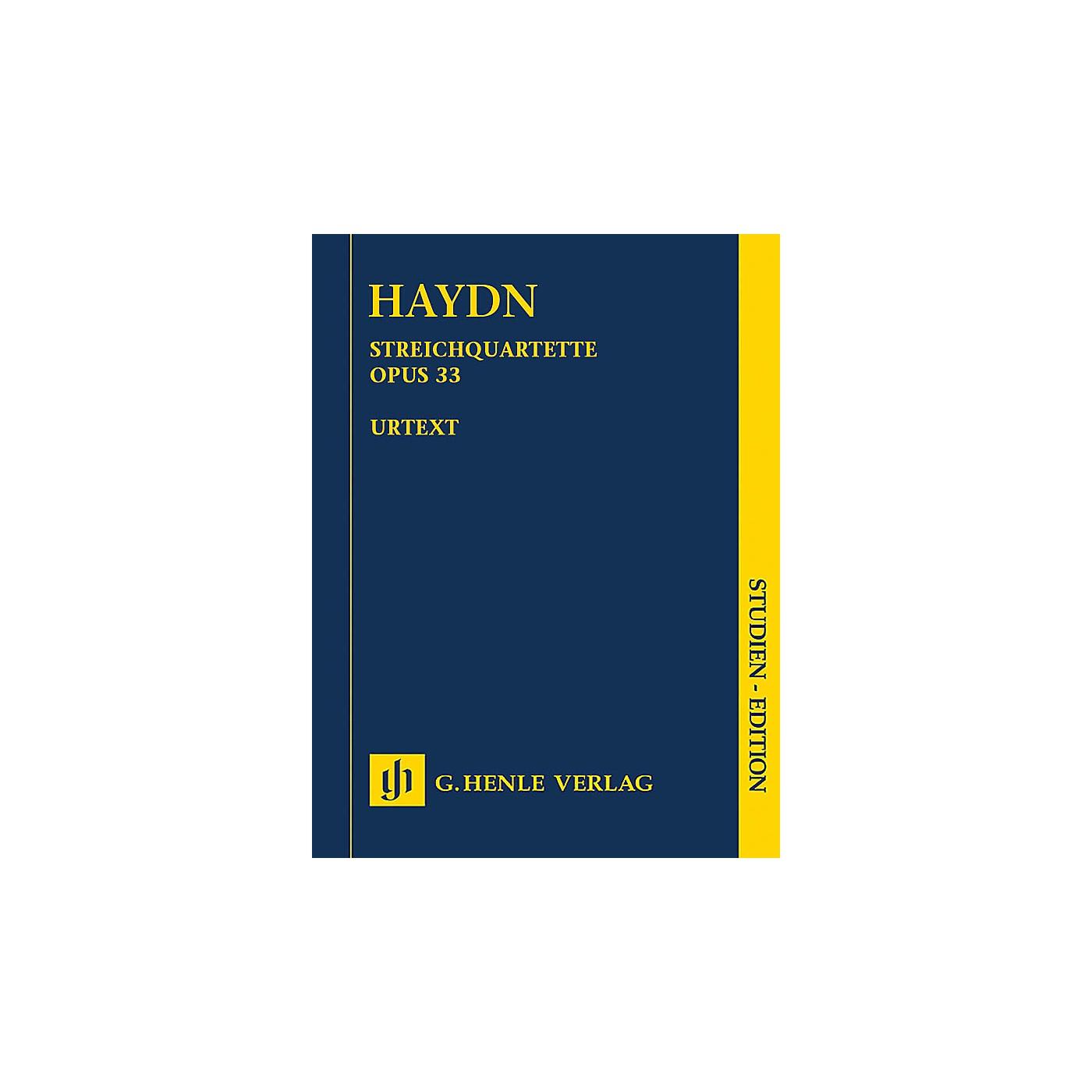 G. Henle Verlag String Quartets, Vol. V, Op. 33 (Russian Quartets) Henle Study Scores by Haydn Edited by Sonja Gerlach thumbnail