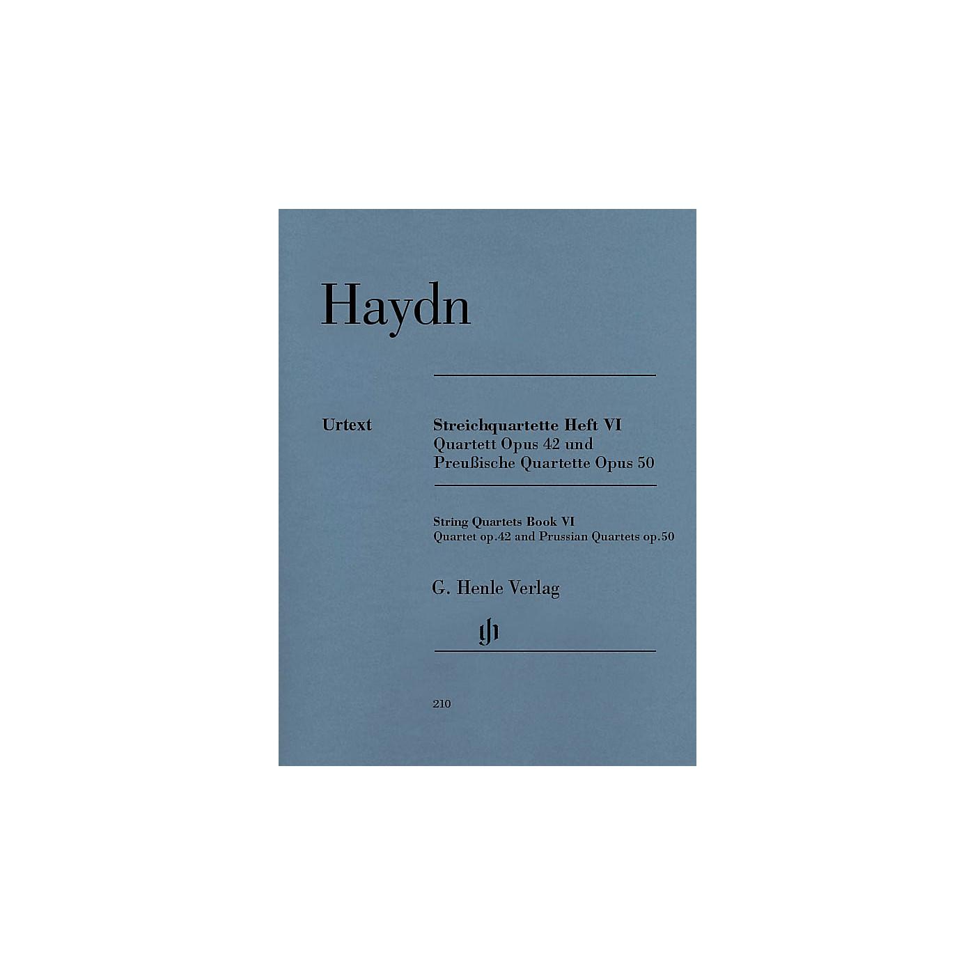 G. Henle Verlag String Quartets, Vol. VI, Op.42 and Op.50 (Prussian Quartets) Henle Music Folios by Joseph Haydn thumbnail