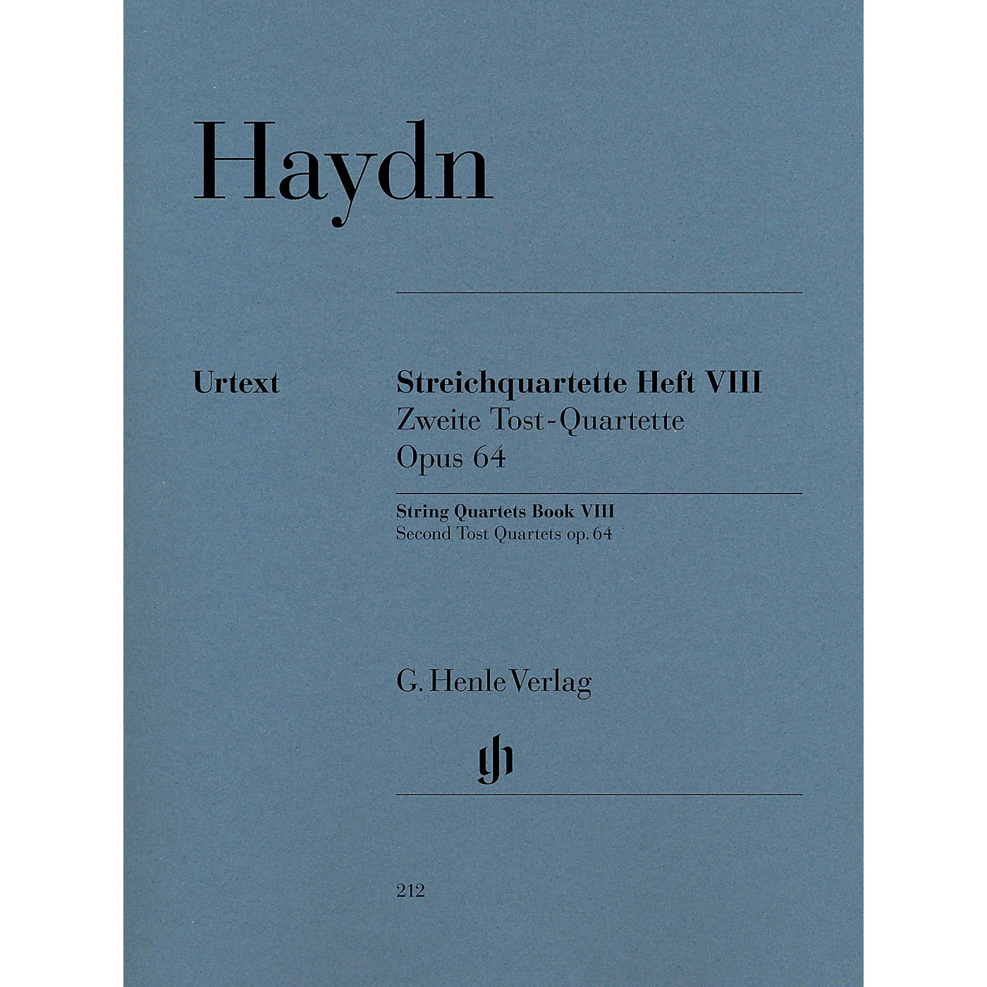 G. Henle Verlag String Quartets Volume 8, Op. 64 (Second Tost Quartets) Henle Music Folios Softcover by Joseph Haydn thumbnail