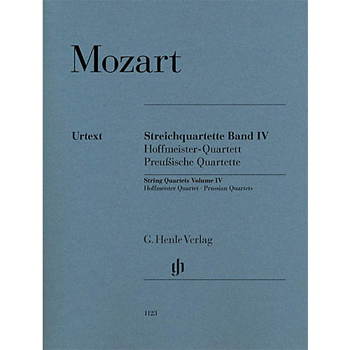 G. Henle Verlag String Quartets Volume Iv (4) Henle Music Folios Series by Wolfgang Amadeus Mozart thumbnail