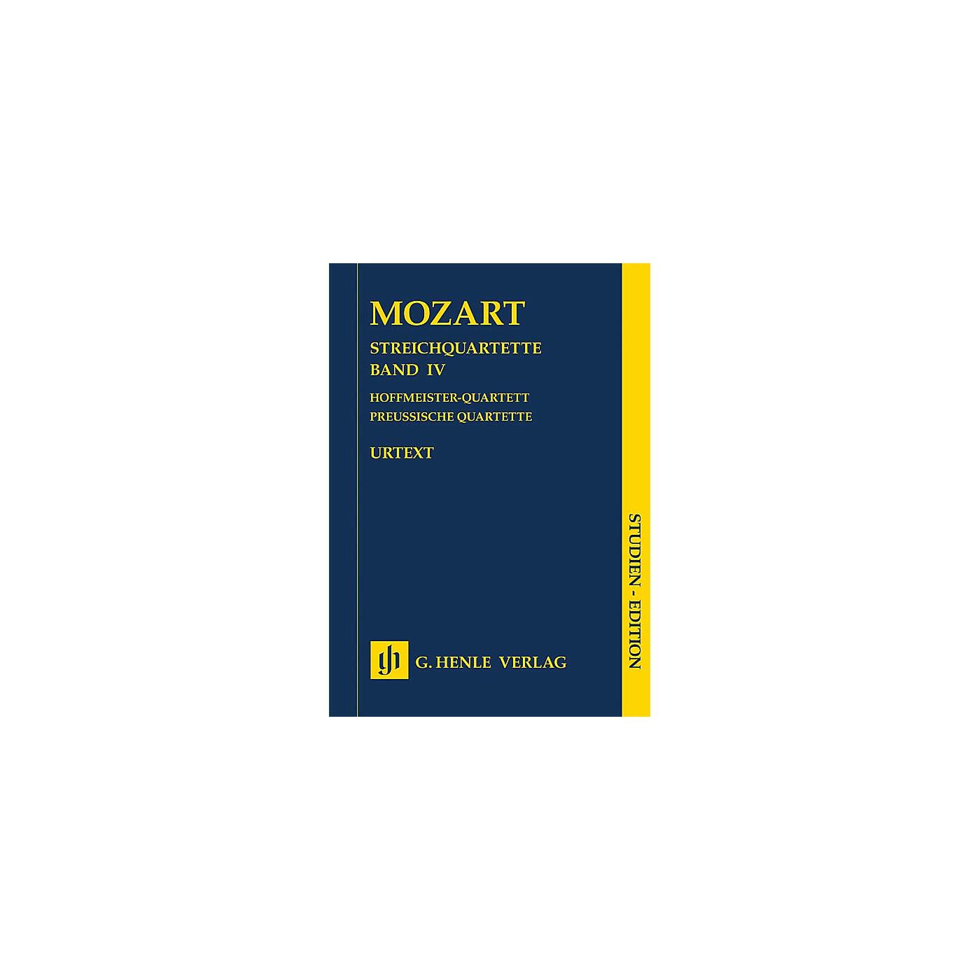 G. Henle Verlag String Quartets Volume Iv (4) Study Score Henle Study Scores Series Softcover by Wolfgang Amadeus Mozart thumbnail