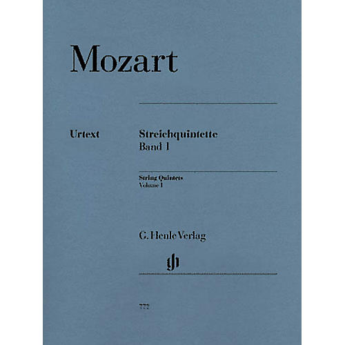 G. Henle Verlag String Quintets - Volume I (Parts) Henle Music Folios Series Softcover by Wolfgang Amadeus Mozart thumbnail