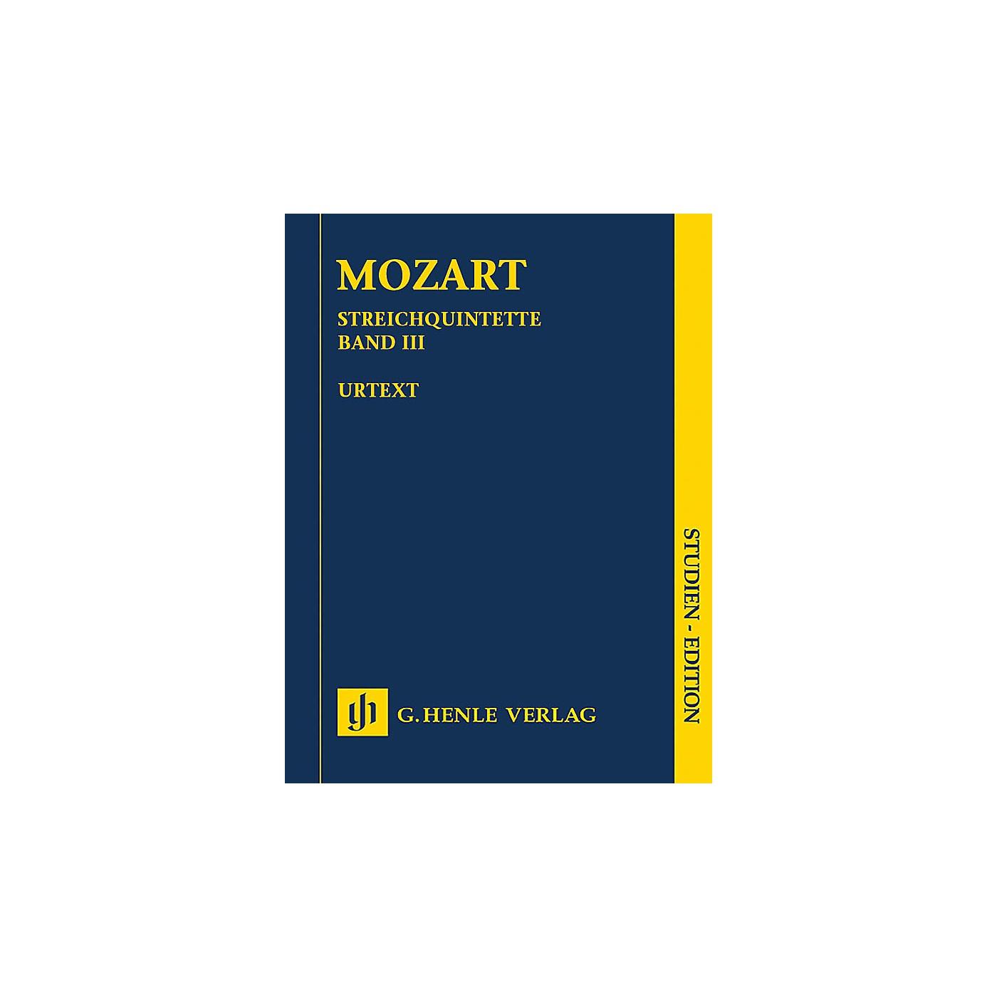 G. Henle Verlag String Quintets - Volume III Henle Study Scores by Wolfgang Amadeus Mozart Edited by Ernst Herttrich thumbnail