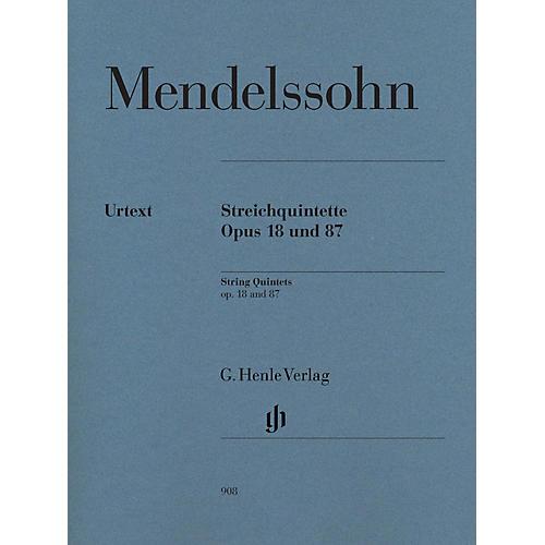 G. Henle Verlag String Quintets Op. 18 and 87 Henle Music Folios by Felix Mendelssohn Bartholdy Edited by Ernst Herttrich thumbnail