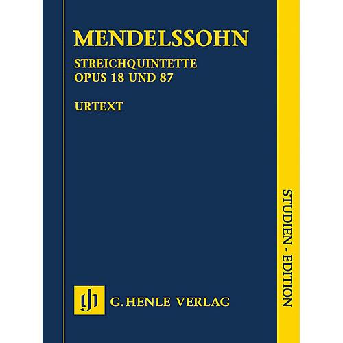 G. Henle Verlag String Quintets, Op. 18 and 87 Henle Study Scores Series Softcover by Felix Mendelssohn Bartholdy thumbnail
