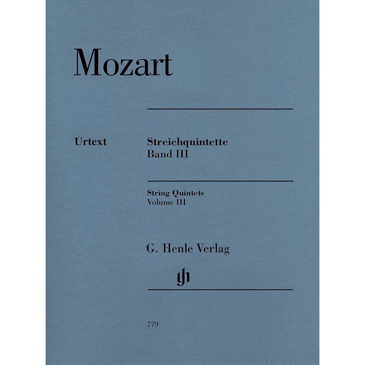 G. Henle Verlag String Quintets: Volume III Henle Music Folios by Wolfgang Amadeus Mozart Edited by Ernst Herttrich thumbnail
