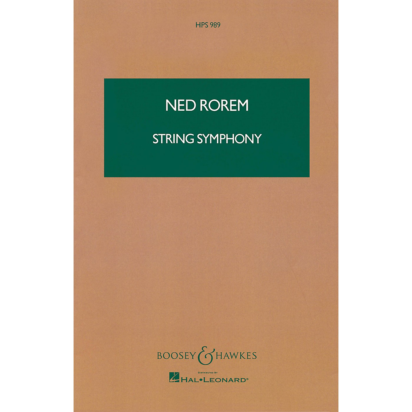 Boosey and Hawkes String Symphony (Study Score) Boosey & Hawkes Scores/Books Series Composed by Ned Rorem thumbnail