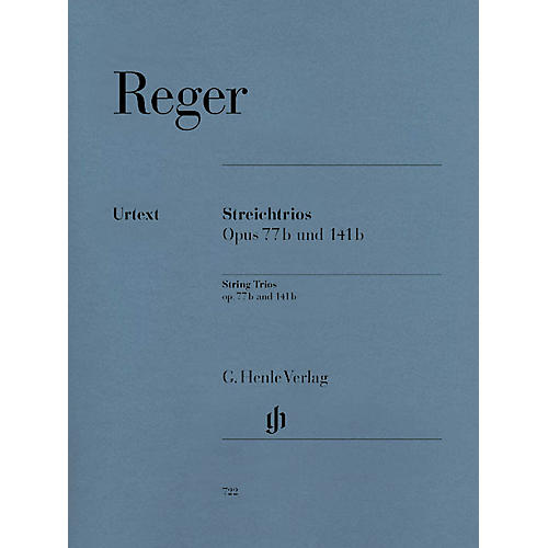 G. Henle Verlag String Trios A minor Op. 77b and D minor Op. 141b Henle Music Folios Series Softcover by Max Reger thumbnail