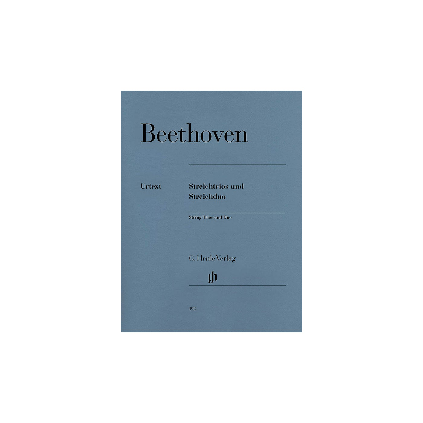 G. Henle Verlag String Trios Op. 3, 8, and 9 and String Duo WoO 32 Henle Music Folios Softcover by Ludwig van Beethoven thumbnail