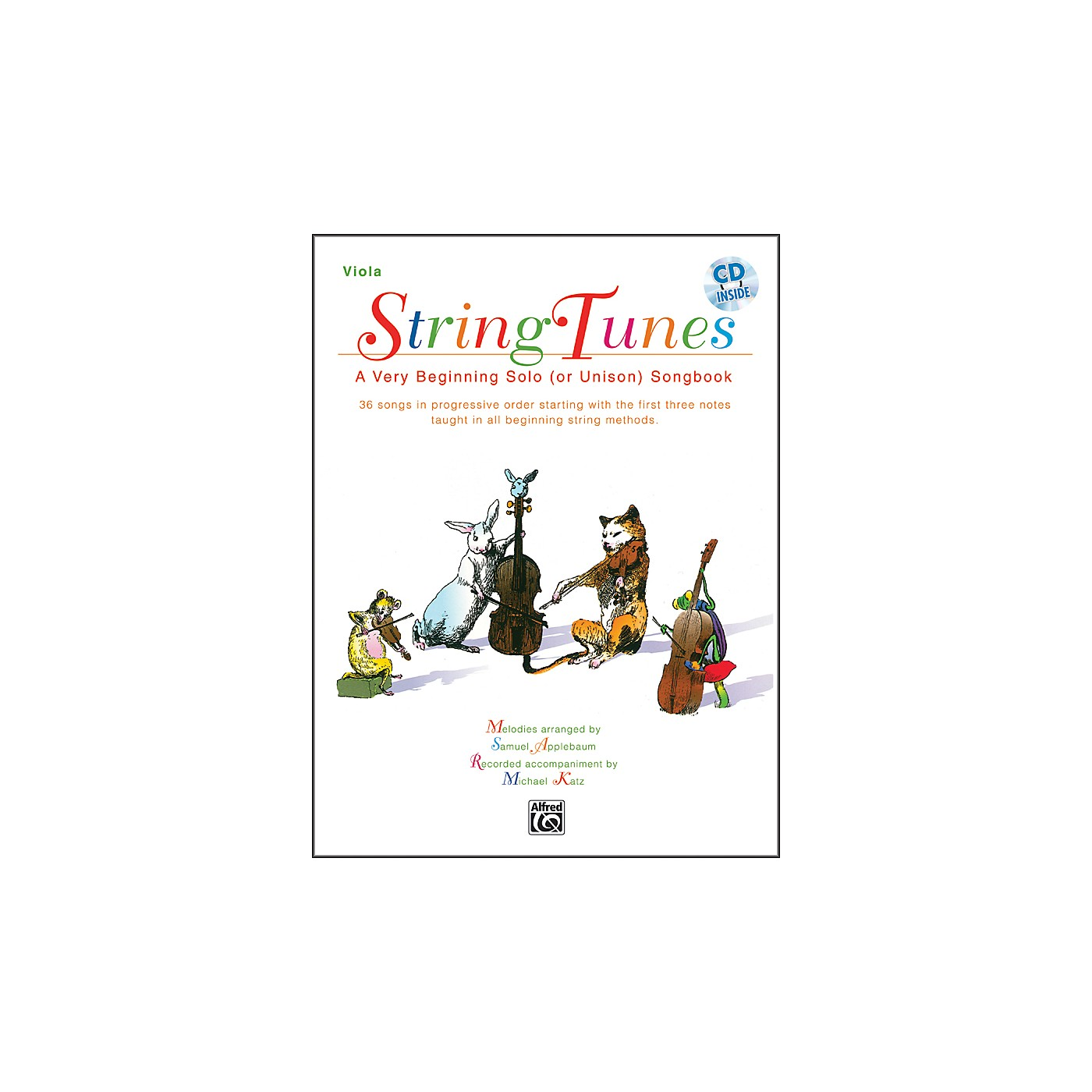 Alfred StringTunes - A Very Beginning Solo (or Unison) Songbook Viola Book & CD thumbnail