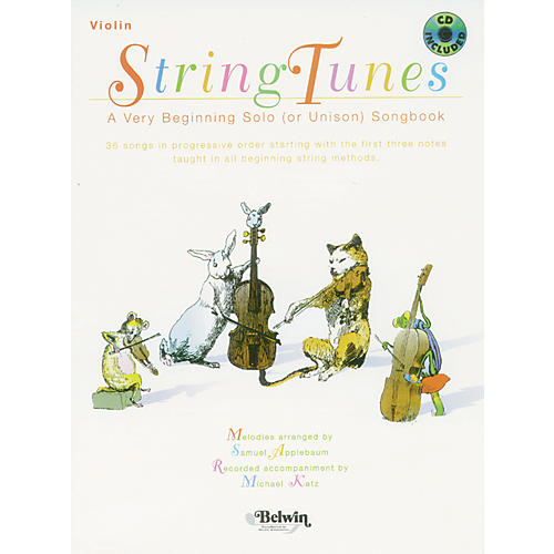 Alfred StringTunes - A Very Beginning Solo (or Unison) Songbook Violin Book & CD thumbnail