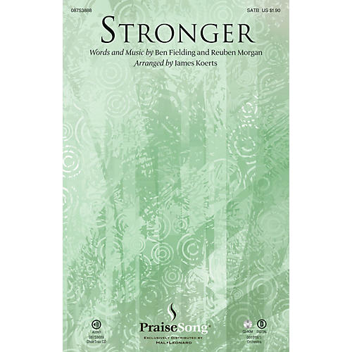 PraiseSong Stronger SATB arranged by James Koerts thumbnail