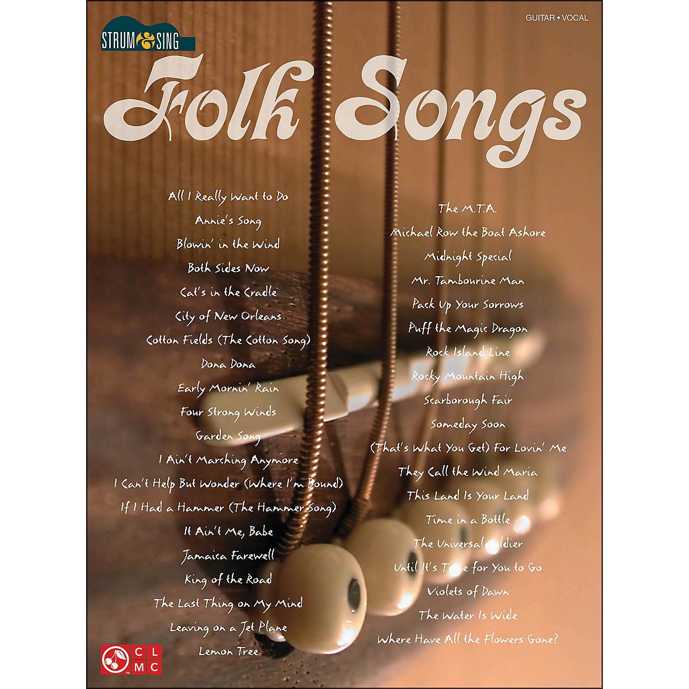 Cherry Lane Strum & Sing Folk Songs for Easy Guitar thumbnail
