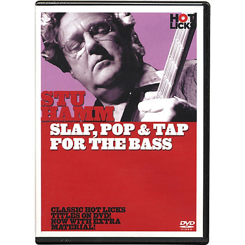 Hot Licks Stu Hamm Slap, Pop & Tap for the Bass DVD thumbnail