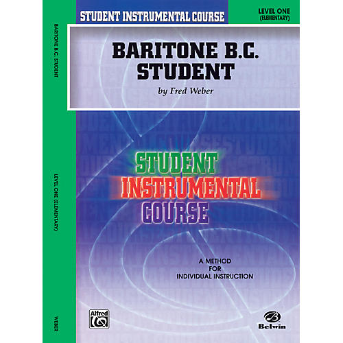Alfred Student Instrumental Course Baritone (B.C.) Student Level 1 Book thumbnail
