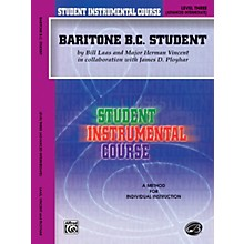 Alfred Student Instrumental Course Baritone (B.C.) Student Level 3 Book