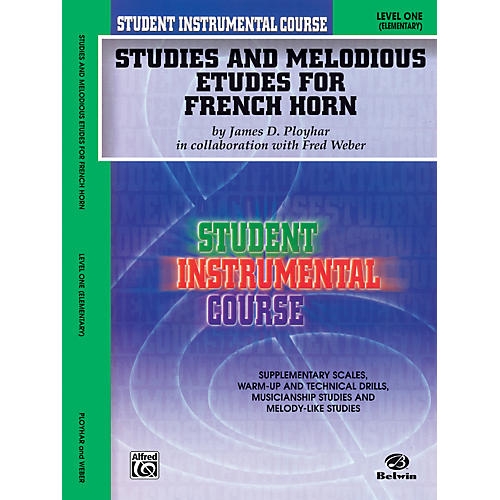Alfred Student Instrumental Course Studies and Melodious Etudes for French Horn Level I thumbnail