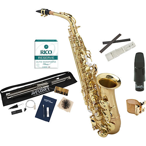 Allora Student Series Alto Saxophone Model AAAS-301 with Upgraded Accessories-thumbnail
