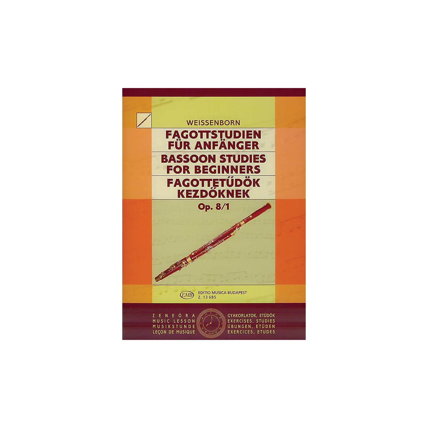 Editio Musica Budapest Studies for Bassoon, Op. 8 - Volume 1 EMB Series by Julius Weissenborn thumbnail