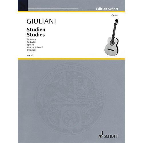 Schott Studies for Guitar, Op. 1a - Volume 1 Schott Series Softcover thumbnail