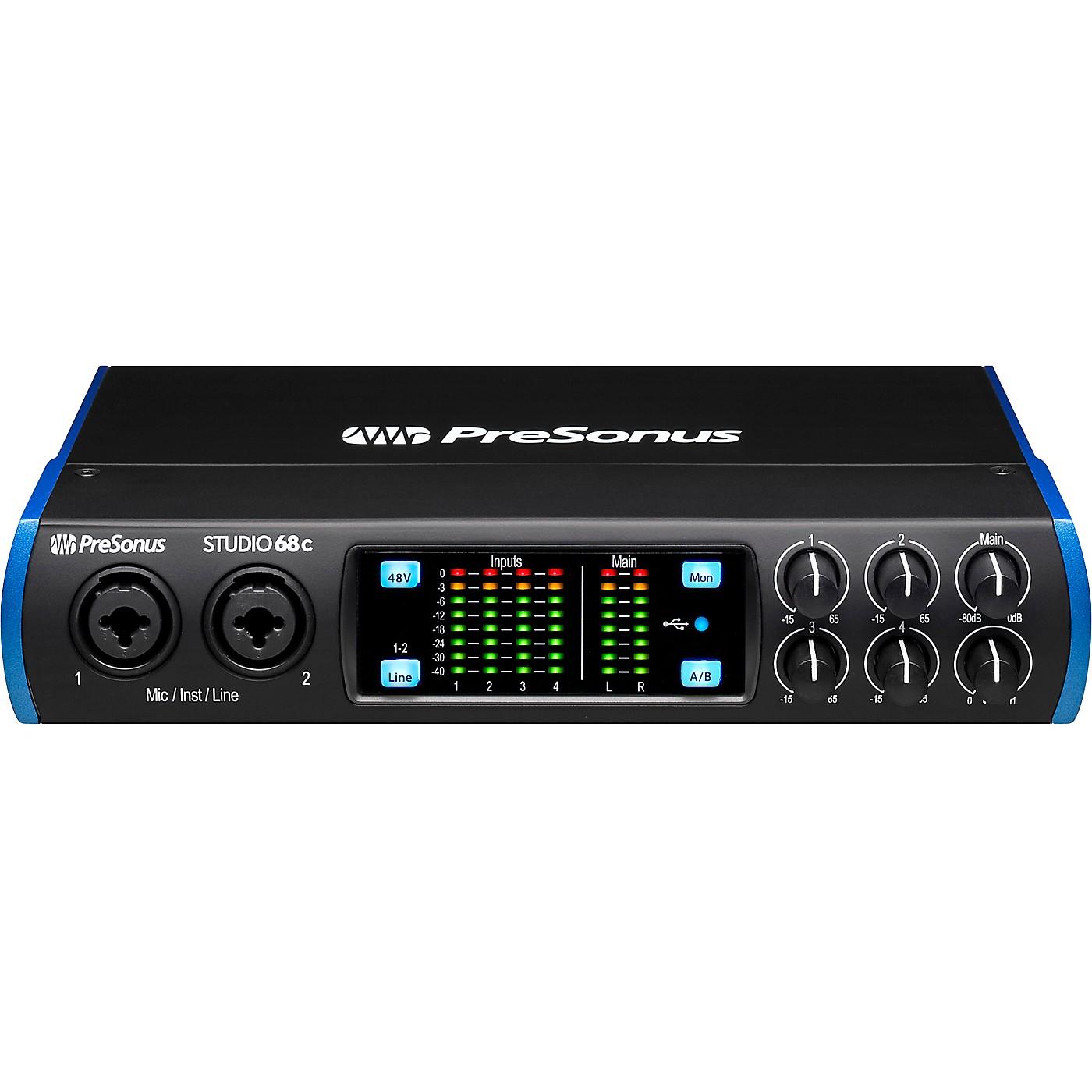 Presonus Studio 68c USB-C 6x6 Audio/MIDI Interface thumbnail