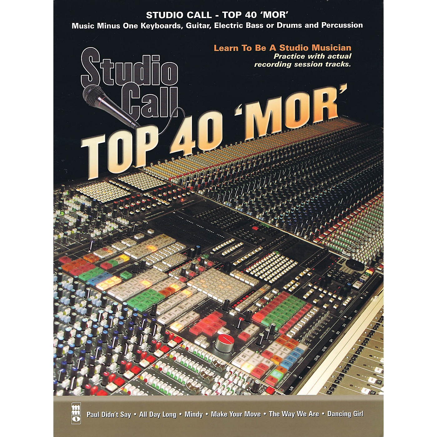 Music Minus One Studio Call: Top 40 'Mor' - Guitar Music Minus One Series Softcover with CD thumbnail