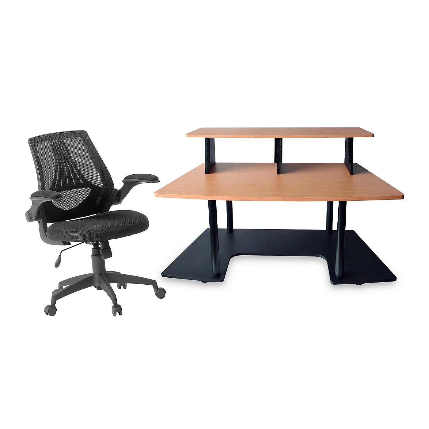 Studio RTA Studio RTA Creation Station Maple and Mesh Managers Office Chair Bundle thumbnail