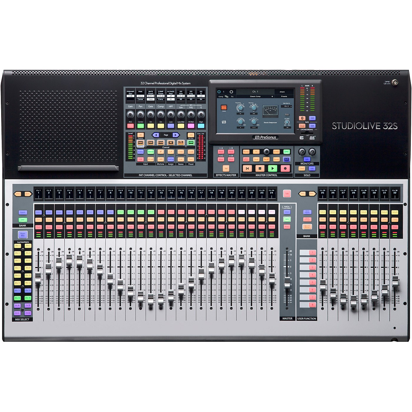 Presonus StudioLive 32S 32-Channel Mixer with 26 Mix Busses and 64x64 USB Interface thumbnail