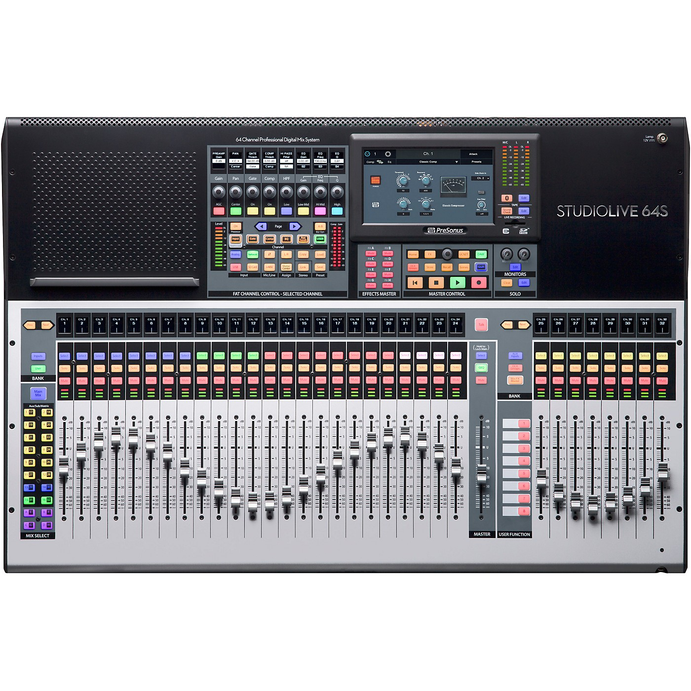 Presonus StudioLive 64S 64-Channel Mixer with 43 Mix Busses, 33 Motorized Faders and 64x64 USB Interface thumbnail