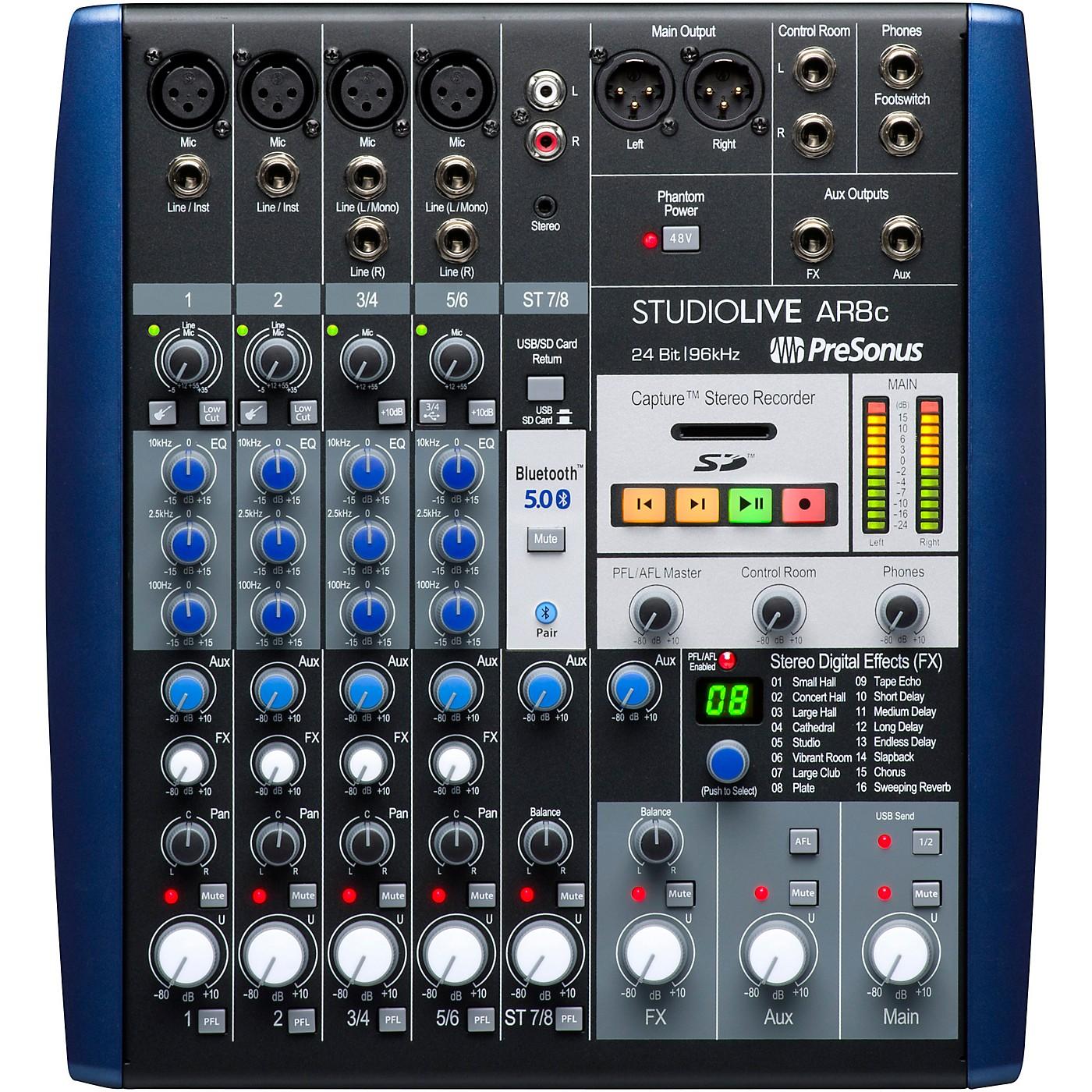 Presonus StudioLive AR8c 8-Channel Hybrid Digital/Analog Performance Mixer thumbnail