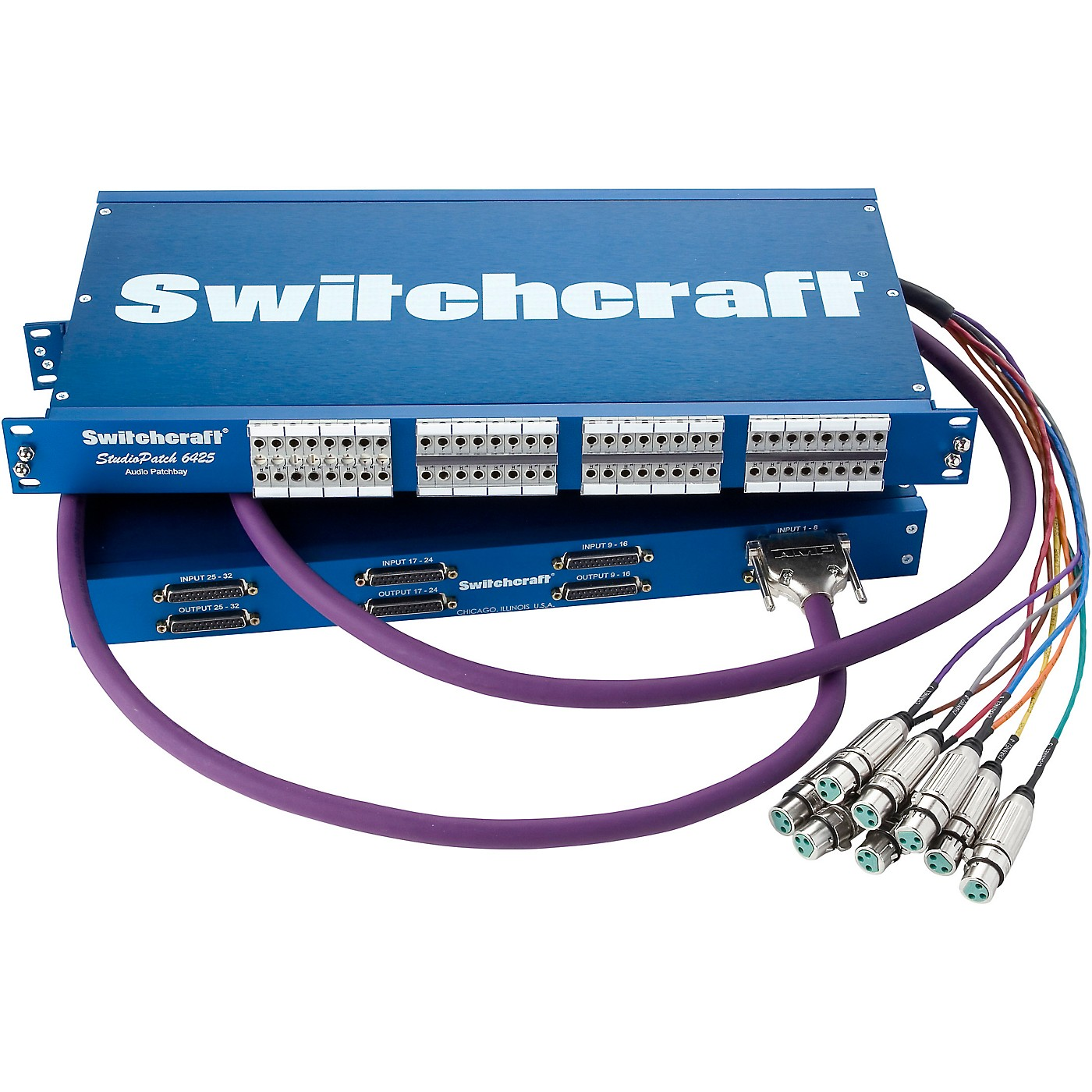 Switchcraft Studiopatch 6425 64 Patch Points To Db25 with Switchable Grounds thumbnail