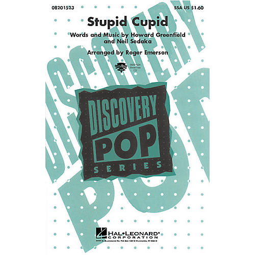 Hal Leonard Stupid Cupid (from The Princess Diaries) (SSA) SSA by Connie Francis arranged by Roger Emerson thumbnail