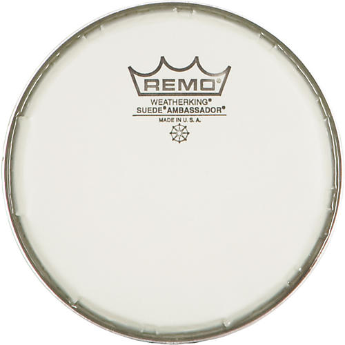 remo 6 in suede ambassador drum heads woodwind brasswind. Black Bedroom Furniture Sets. Home Design Ideas