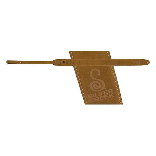 Silver Creek Suede Guitar Strap with Logo thumbnail
