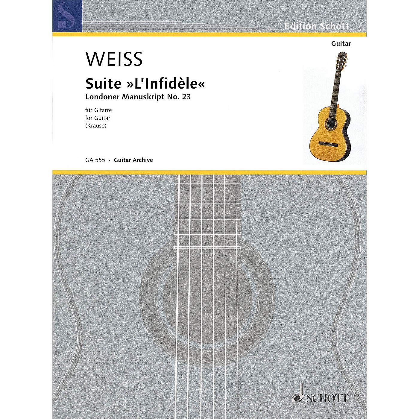 Schott Suite L'infidèle Schott Series Softcover Composed by Silvius Leopold Weiss Edited by Ansgar Krause thumbnail