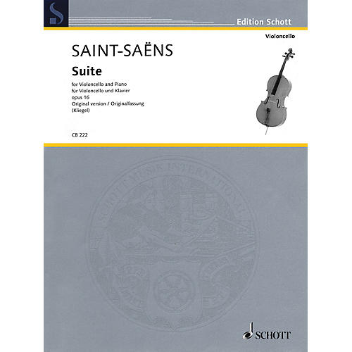 Schott Suite, Op. 16 Schott Series Softcover Composed by Camille Saint-Saëns Edited by Maria Kliegel thumbnail
