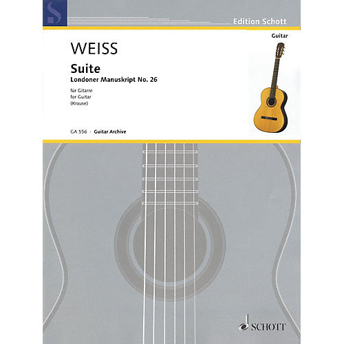 Schott Suite Schott Series Softcover Composed by Silvius Leopold Weiss Edited by Ansgar Krause thumbnail