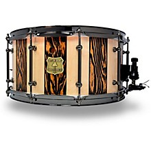 OUTLAW DRUMS Suite Stripe Douglas Fir and Maple Stave Snare Drum with Black Chrome Hardware