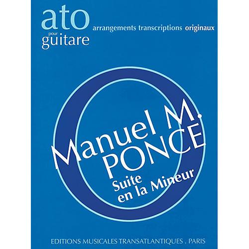 Editions Musicales Transatlantiques Suite en la Mineur (Guitar Solo) Music Sales America Series Softcover thumbnail
