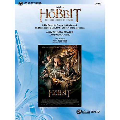Alfred Suite from The Hobbit: The Desolation of Smaug Concert Band Grade 3.5 Set thumbnail