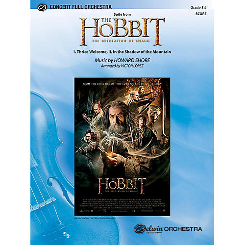 Alfred Suite from The Hobbit: The Desolation of Smaug Full Orchestra Grade 3.5 Set thumbnail