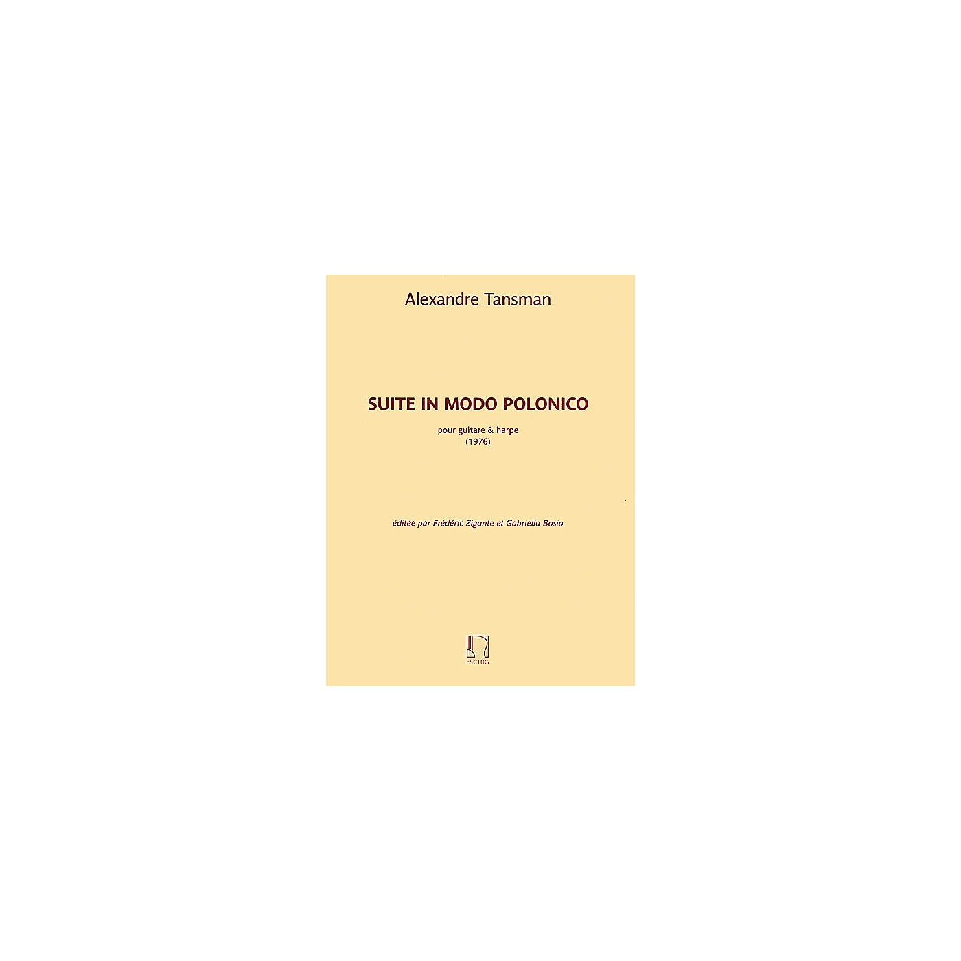 Max Eschig Suite in modo polonico (Guitar and Harp) Editions Durand Series Softcover Composed by Alexandre Tansman thumbnail